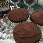 close up of chocolate vegan cupcakes