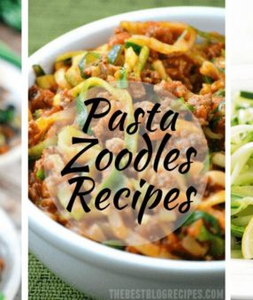 Pasta Zoodles Recipes are trending! Almost any pasta recipe can be made with zoodles–here are some pasta recipes for you to try with zucchini noodles!