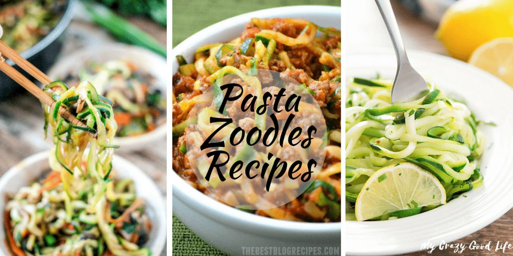 Pasta Zoodles Recipes are all the rage right now! Hop on board this crazy pasta zoodles train for some delicious and healthy recipes for all those zoodles!