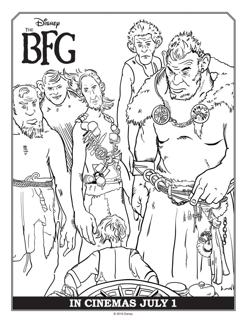 The BFG Giants Coloring Worksheets