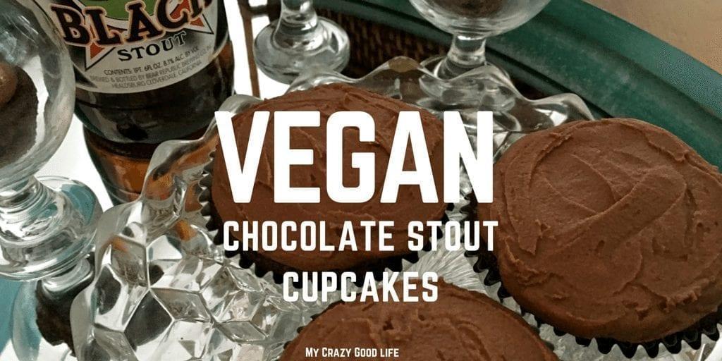 Vegan Aquafaba Chocolate Stout Cupcakes