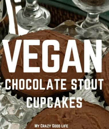 These vegan aquafaba chocolate stout cupcakes are the perfect happy hour treat! Vegan aquafaba replaces the egg in these chocolate stout cupcakes to make a delicious dessert for everyone!