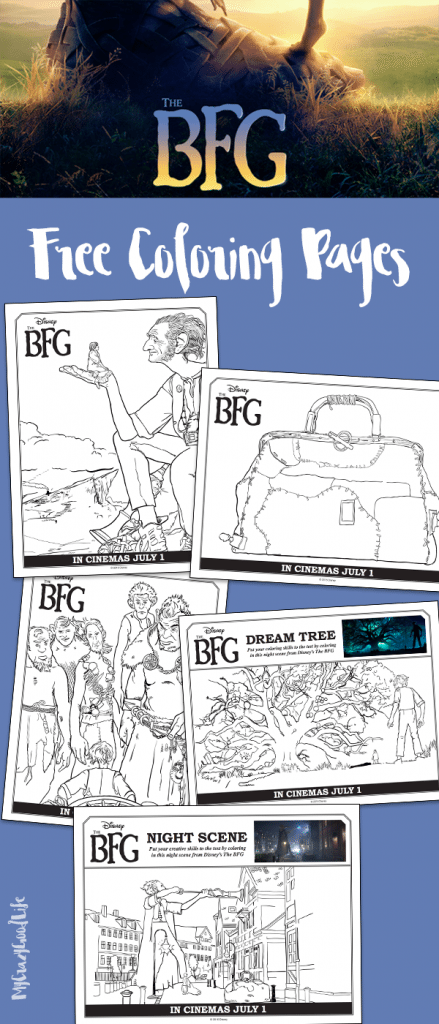 These FREE coloring pages will get your little one excited to see the new movie The BFG (Big Friendly Giant)!