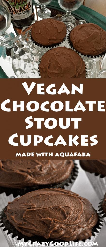 image for pinterest of chocolate vegan cupcakes