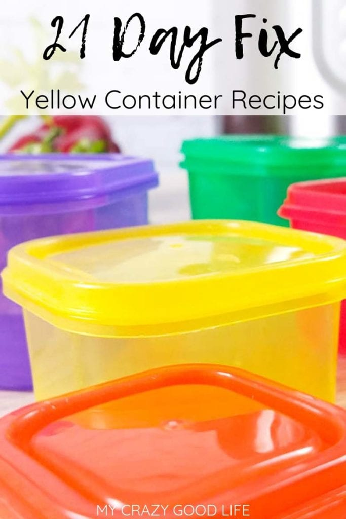 21 day fix yellow container