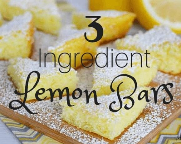 These 3 ingredient lemon bars are the perfect blend of simple and delicious! They're super easy to make and they taste AMAZING!