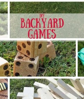 These fun DIY Backyard Games are a great way to enjoy the outdoors without ever leaving the house! Easy to make and fun to play, these lawn games are perfect for your next BBQ or picnic!