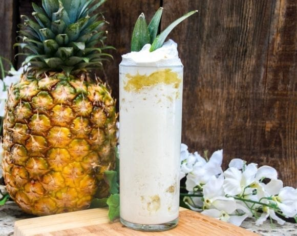 Bring back the Disneyland Dole Whip from your youth and give it an adult twist with this delicious Dole Whip Margarita!