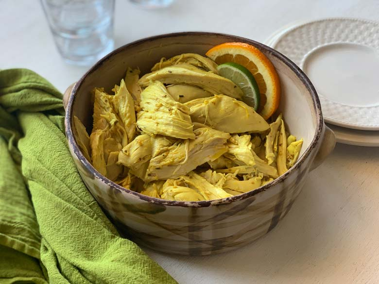 image of mexican inspired shredded chicken