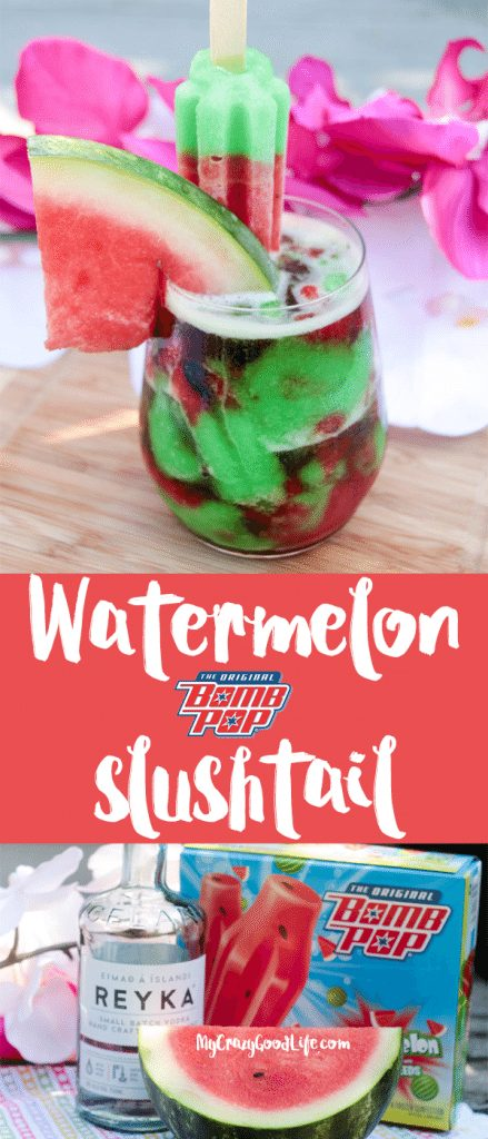 This recipe is super fun and perfect for hot summer days! What could be more delicious than a watermelon slushtail! Sweet, slushie, and cold!