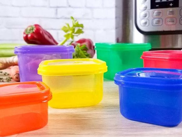 image of 21 day fix containers and an instant pot