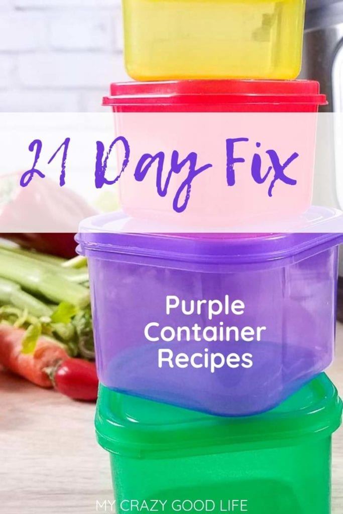 21 day fix purple container