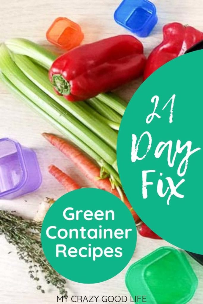 21 day fix green colored container