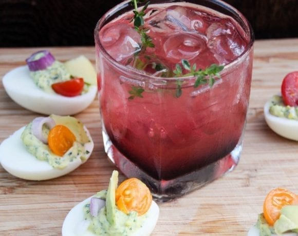 Happy Hour Recipes: Berry Bourbon Cocktail and Herbed Deviled Eggs
