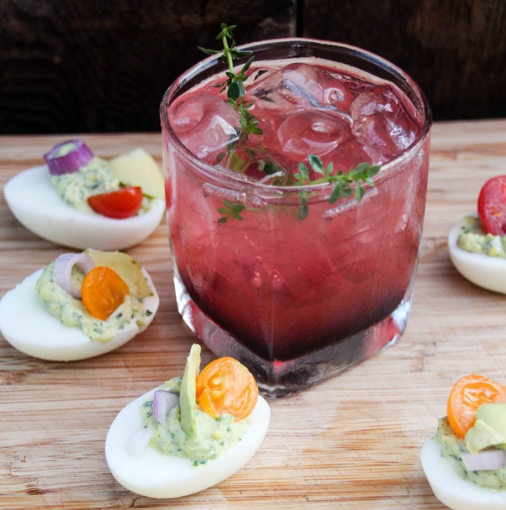 Happy Hour Recipes Berry Bourbon Cocktail And Herbed Deviled Eggs My Crazy Good Life