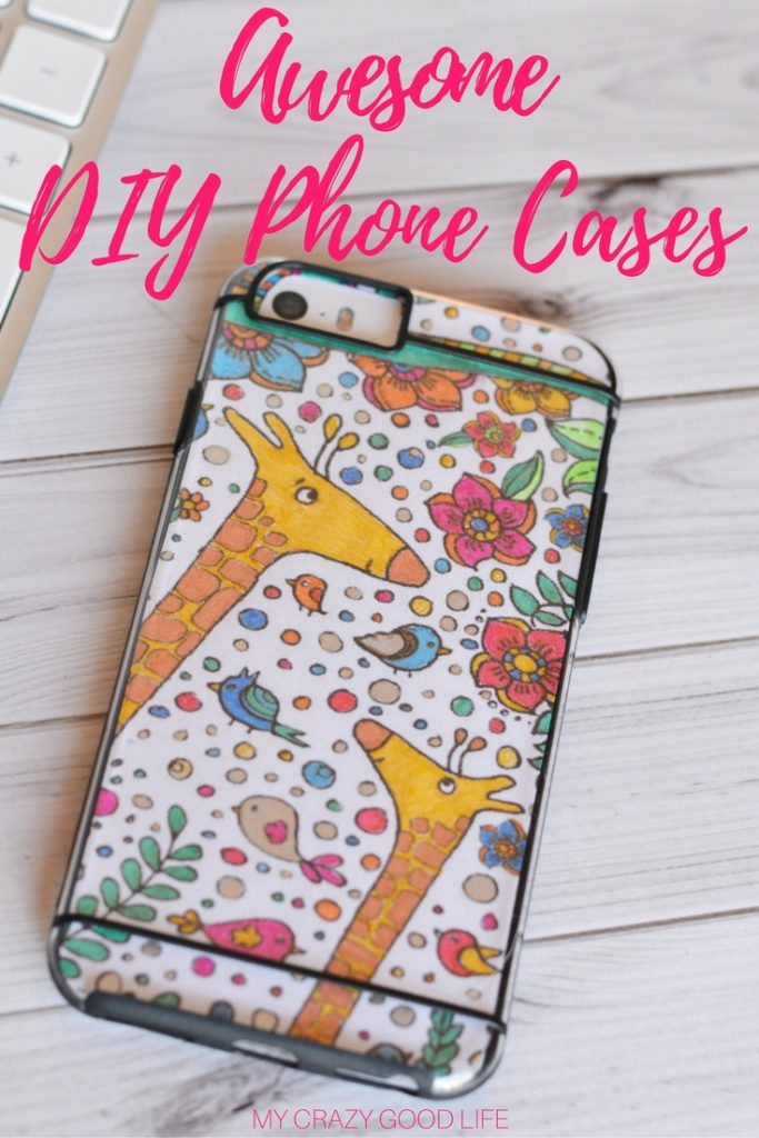DIY iPhone Cases are easy to make and cheaper than constantly buying new outfits for your favorite piece of technology! Plus, it's always fun to craft!