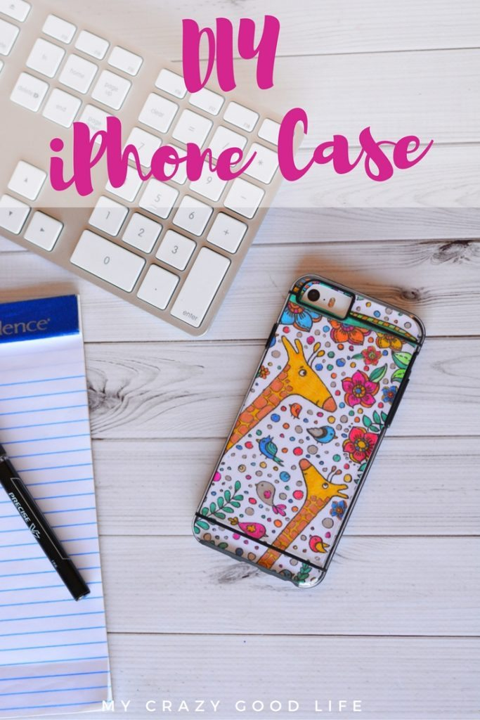 This fun tutorial combines two very popular things: adult coloring pages and iPhones! You can make your own easy DIY iPhone Case quickly and easily!
