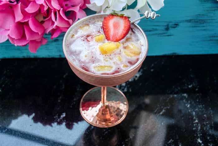 Frozen Pineapple Strawberry Margarita