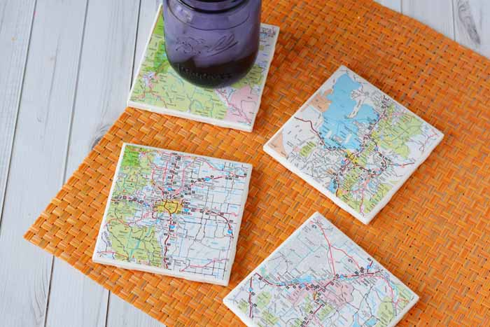 DIY Map Coasters – Fill In Travel Map