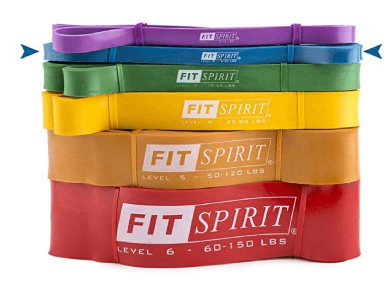 rainbow colored resistance bands