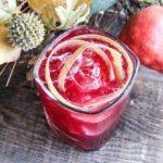 Autumn Bourbon Cocktail with Rhubarb