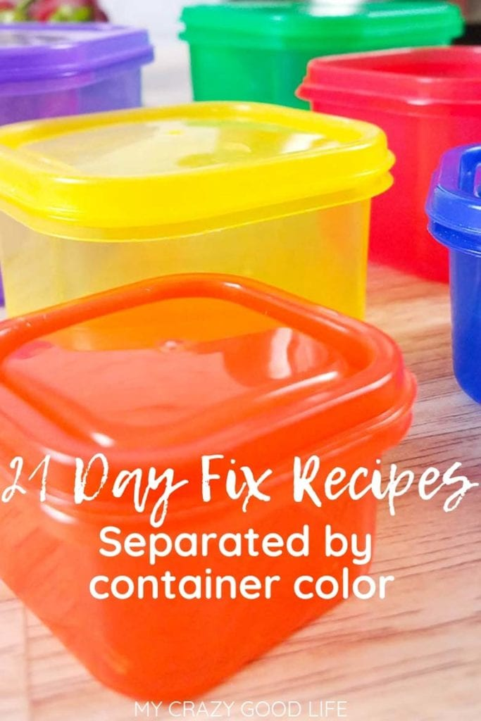 picture of 21 day fix containers on a counter
