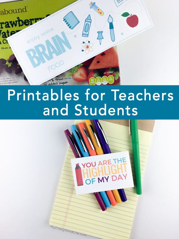 These adorable printables for teachers and students are perfect for acknowledging those who need a little smile today with a snack or small gift!
