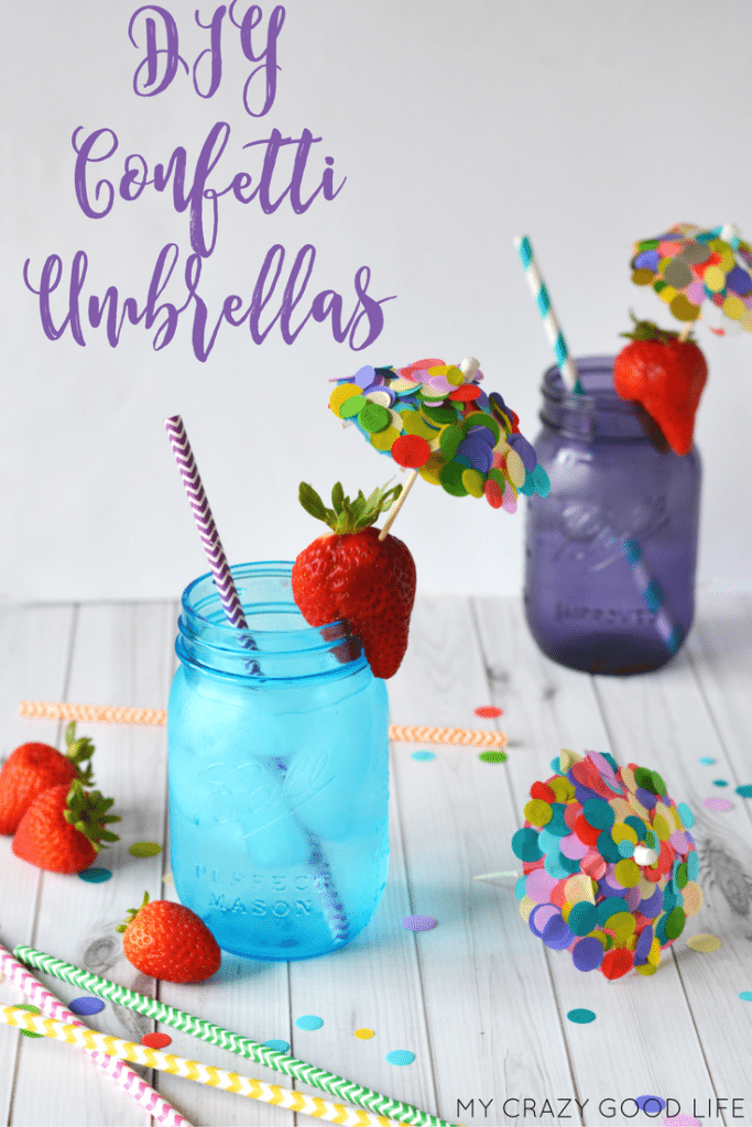 Make some DIY Confetti Umbrellas for everyday use or maybe some for your next party? They're cute, festive, and easy to make! The perfect project to relax!