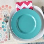 Circle Stencil Placemats Craft