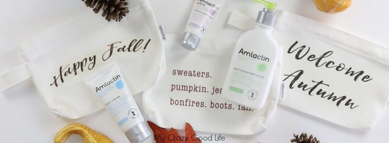 This DIY Fall Makeup Bag is a super easy DIY! Carry around your fall hand lotions to keep your skin moisturized daily. This post was sponsored by AmLactin Skin Care.