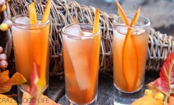 Apple Cider Margarita Shooters with Pumpkin Zest