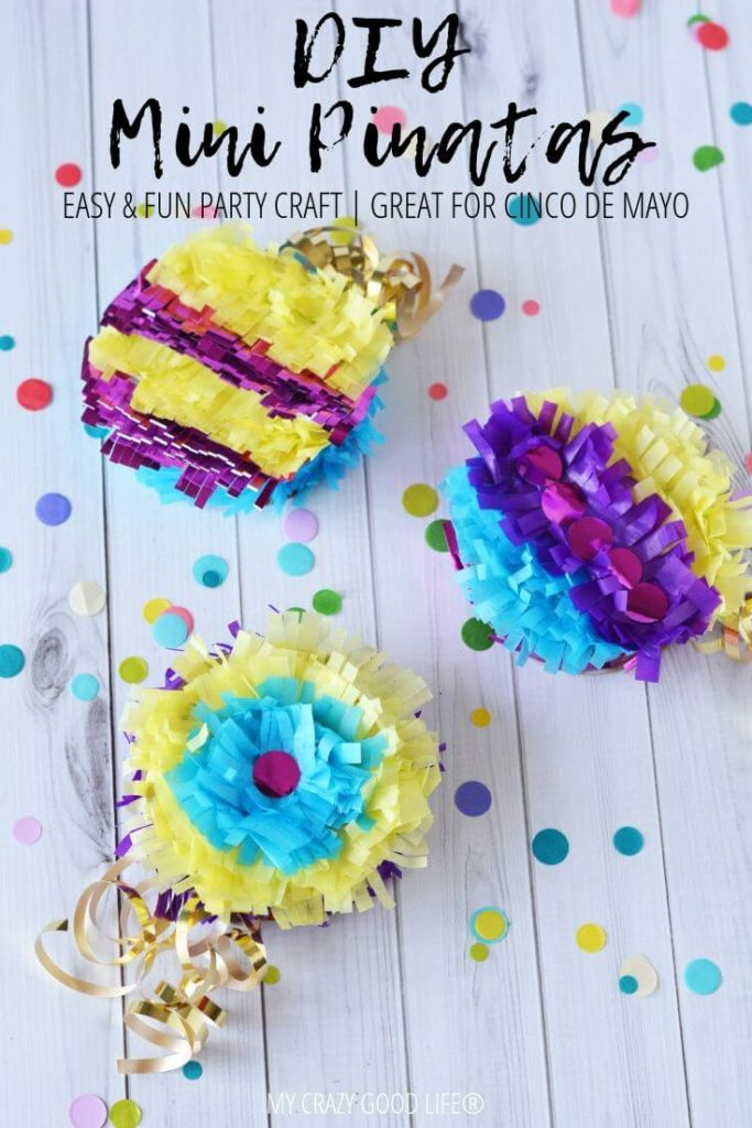 Have you ever wanted to make your own pinata? These mini pinatas are a great party craft idea! Let me show you how to make a pinata for yourself so you can celebrate whenever you want!
