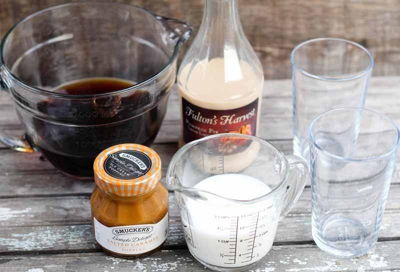 This Bourbon & Pumpkin Pie Iced Coffee is the perfect drink for fall! Served it iced or warm for those chilly fall evenings. It's the perfect amount of pumpkin!