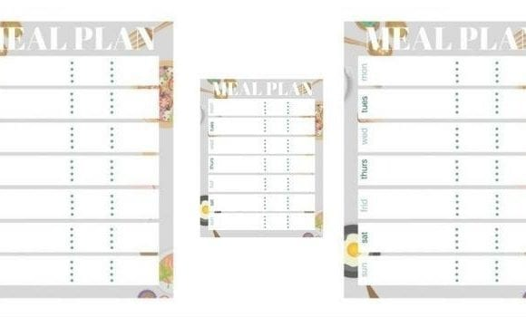 These FREE meal plan printable bullet journal stickers are perfect for your meal planning. Print a sheet of 1 or 4 per page, or adjust size to your needs.