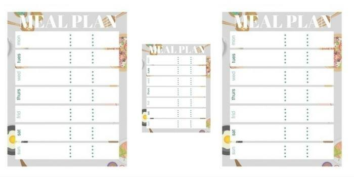 Free Meal Plan Printable Bullet Journal Stickers