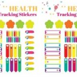 Free Health and Fitness Bullet Journal Sticker Sheet