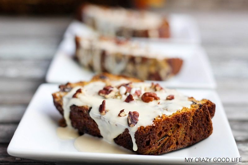 Make some Banana Pumpkin bread with Chocolate Chips, it's bread...disguised as dessert! The Baileys and Bourbon icing takes it the extra, delicious, mile!