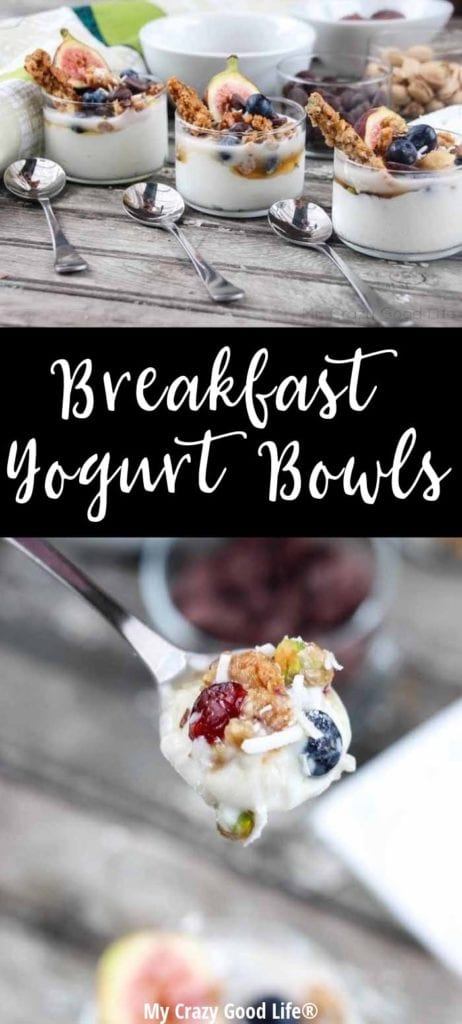 One way you can combat that early morning slump is by making these breakfast yogurt bowls. It's got a lot of simple ingredients, tons of flavor, and lots of healthy grains and protein to keep you focused until lunch.
