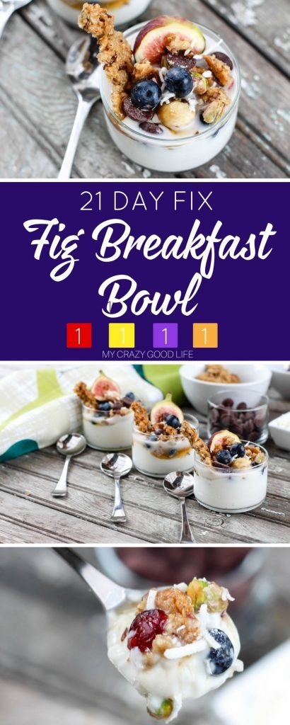 They say that the first meal of the day is the most important one...celebrate in style with this delicious and healthy fig breakfast bowl! Updated to include 21 Day Fix breakfast containers!