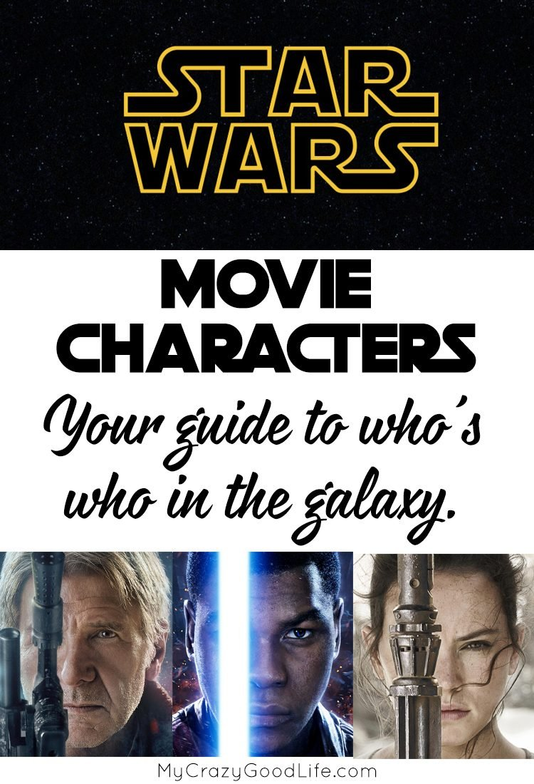 Your cheat sheet to the main Star Wars characters. Need some Star Wars help? I've got you covered with this Star Wars Characters Cheat Sheet.