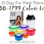21 Day Fix Meal Plans for the 1500-1799 Calorie Level