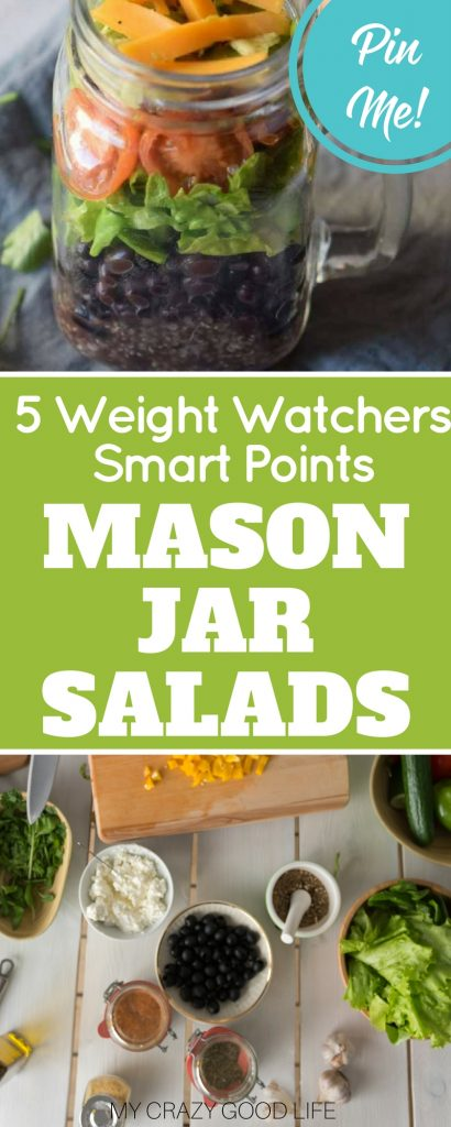 This Weight Watchers Smart Points Mason Jar Salad uses quinoa and black beans for extra protein, and can be customized any way you'd like!