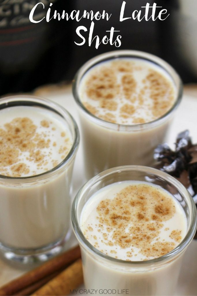 These cinnamon latte shots will warm you up and keep you going! They're the perfect addition to any party menu or just a delightful Friday night!