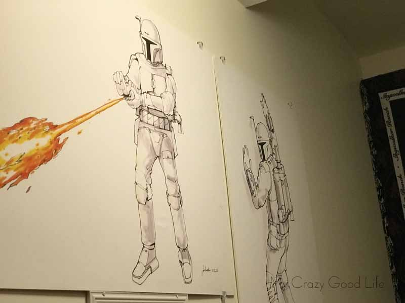 Fun StormTrooper sketches from the Skywalker Ranch store