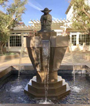 Yoda Fountain at LucasFilm Headquarters