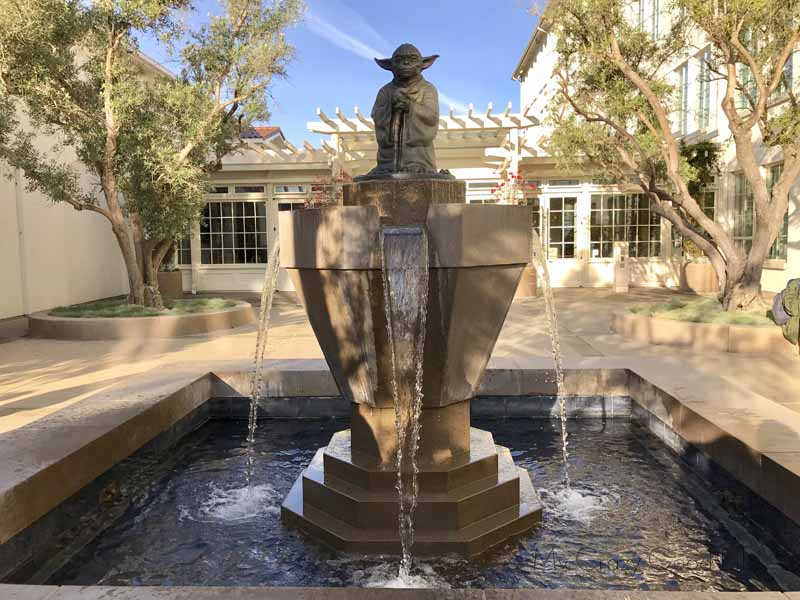 Yoda Fountain at LucasFilm Headquarters