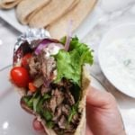 These Instant Pot Beef Gyros are delicious and can easily be made into a clean beef gyros recipe! They're a great 21 Day Fix Instant Pot dinner!
