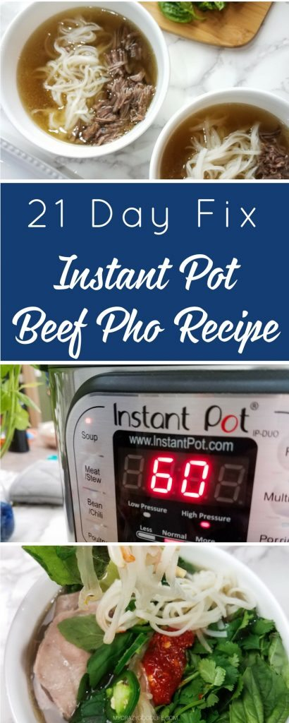 This Instant Pot Beef Pho recipe is delicious | 21 Day Fix Pho recipe | Beautiful spices and savory broth make up this Vietnamese soup | 21 Day Fix Beef Pho