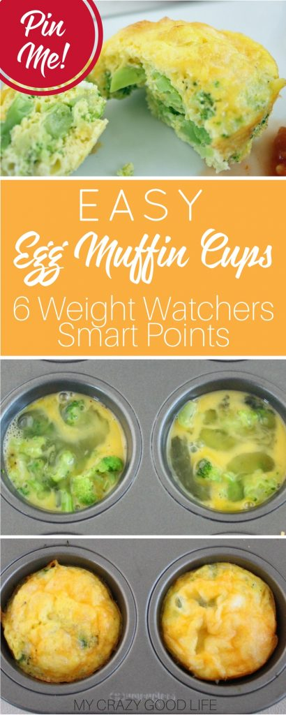 These easy egg muffin cups are full of protein and veggies and you can prep ahead on the weekend. An awesome low point Weight Watchers breakfast too!