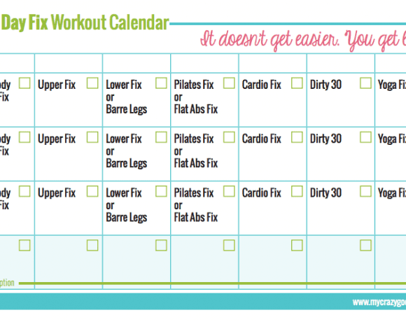 graphic regarding 21 Day Fix Workout Schedule Printable called 21 Working day Mend Free of charge Printables Archives - My Ridiculous Optimistic Existence